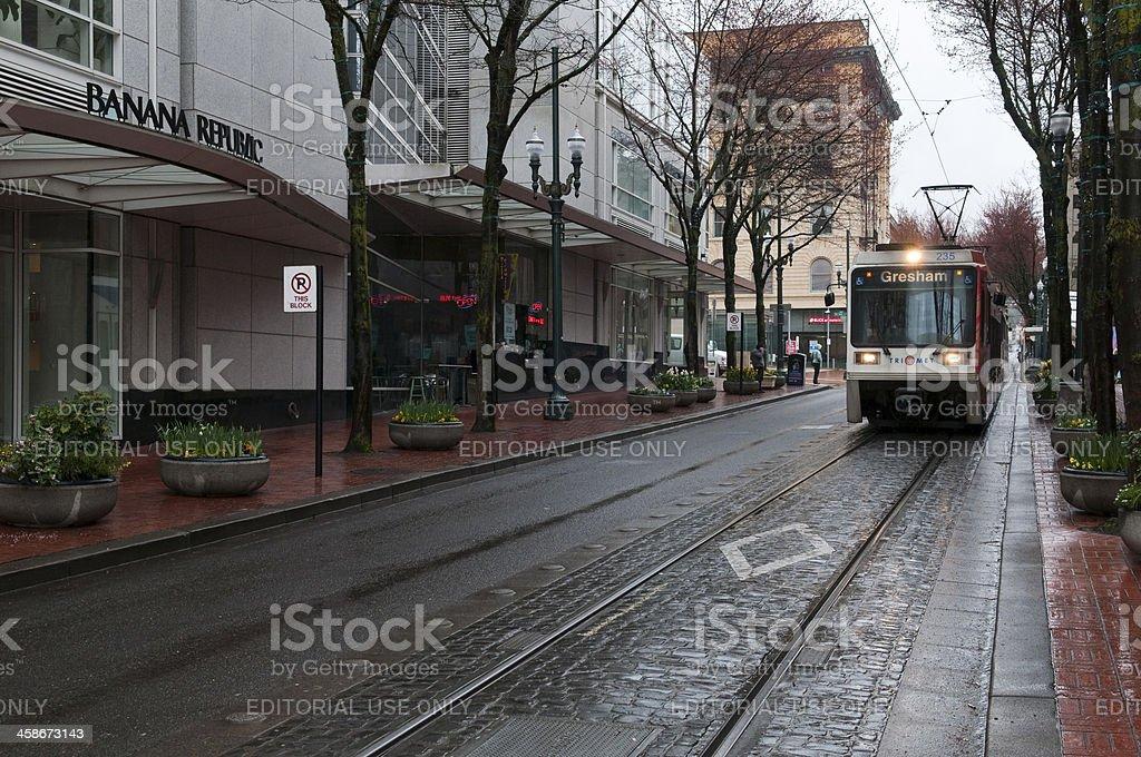 Portland tram stock photo