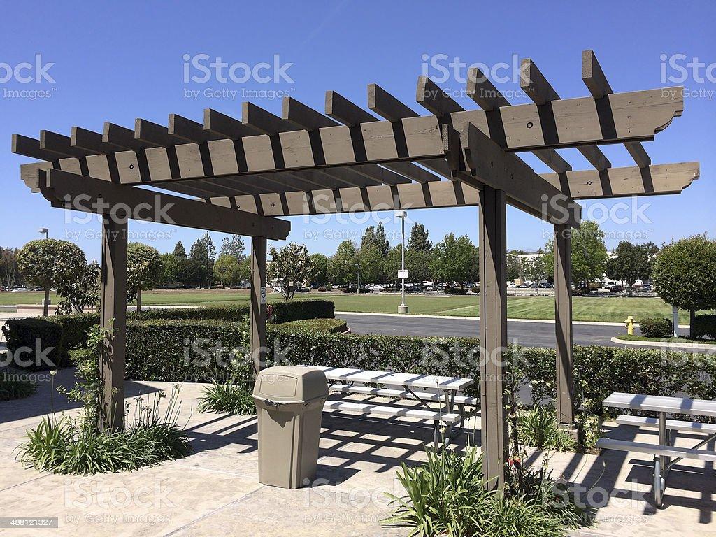 Portland Wooden Pergola stock photo