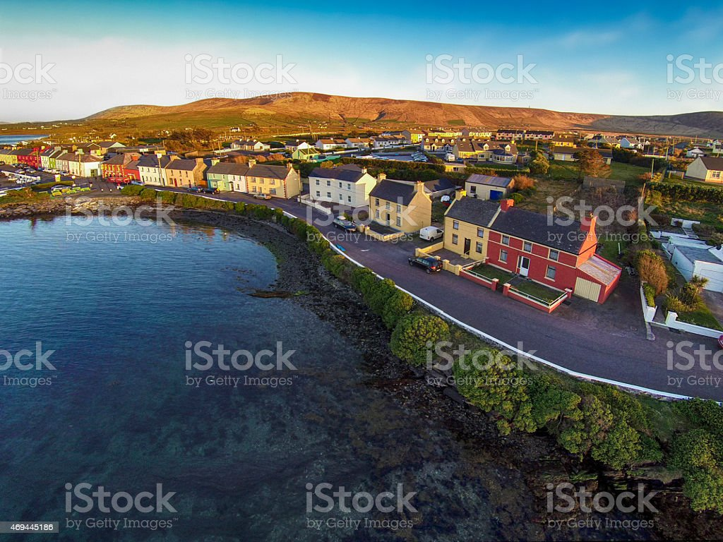 Portmagee in County Kerry Ireland stock photo