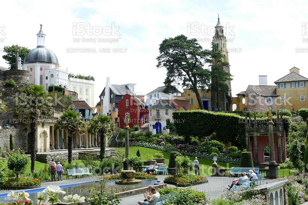 Portmeirion, Wales. stock photo
