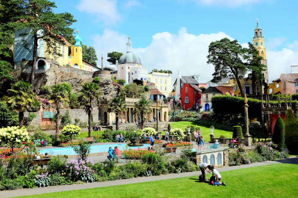 Portmeirion, Wales. stock photo