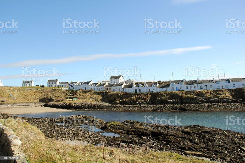 Portnahaven Village Islay Scotland stock photo