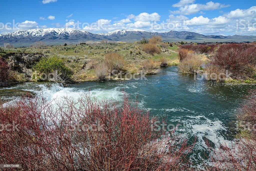 Portneuf River, Idaho stock photo