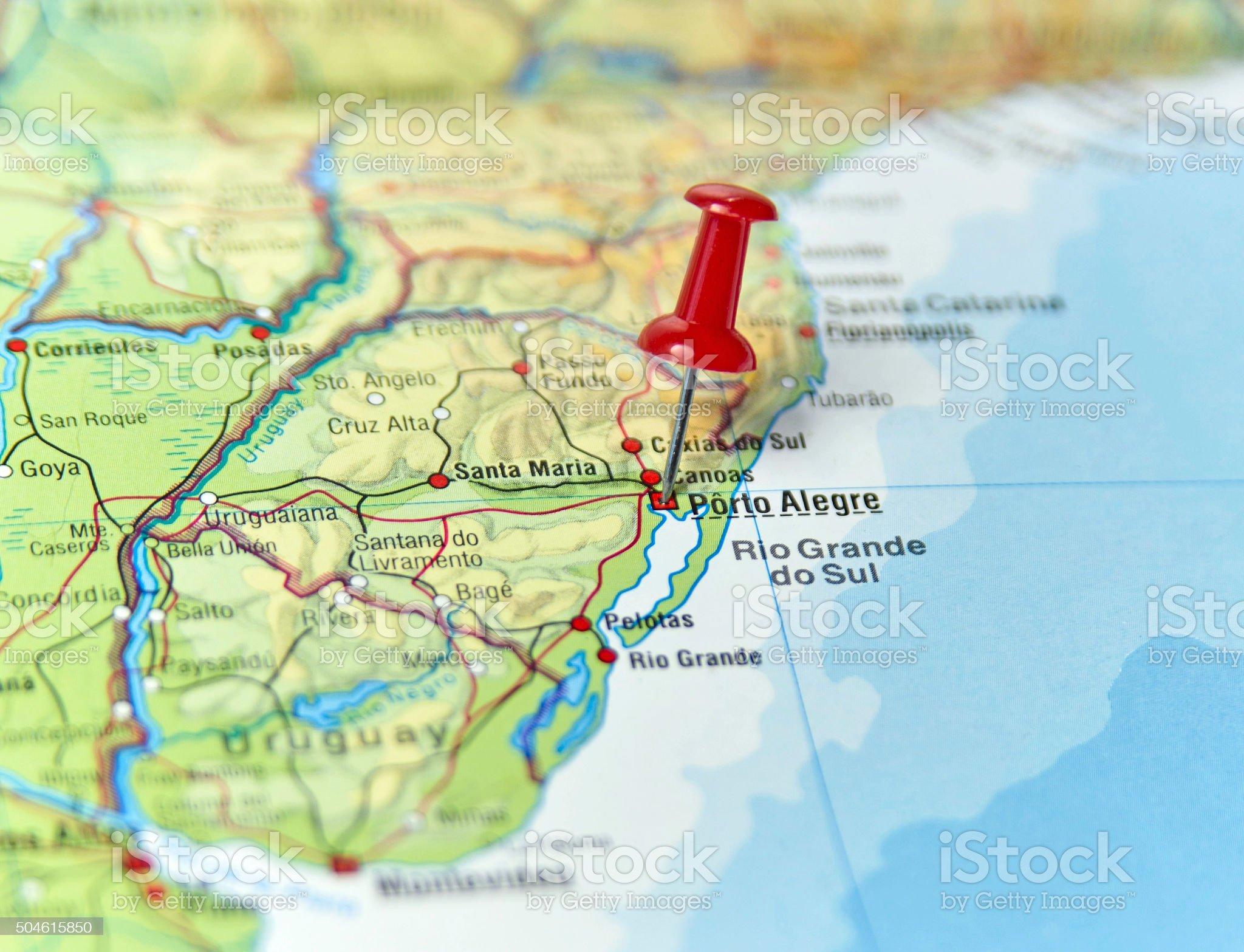 Porto Alegre, Brasile - Foto stock royalty-free di Carta geografica