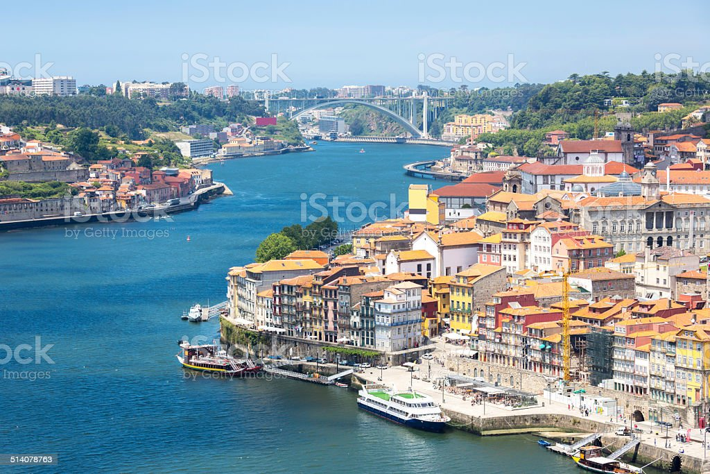 Porto ancient Town Portugal stock photo