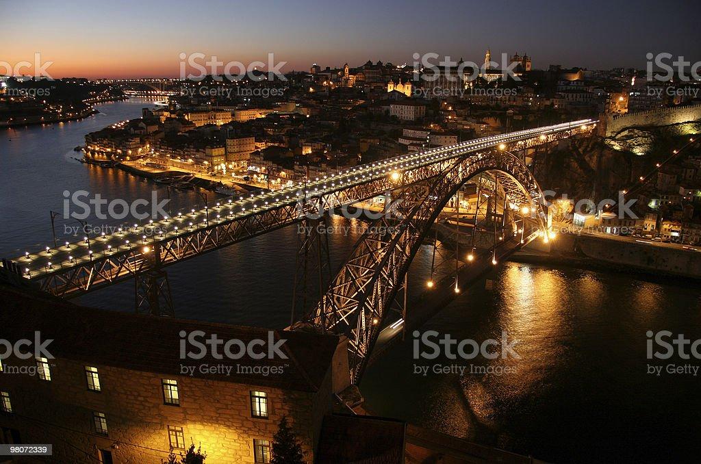 Porto - Bridge D. Luis at night royalty-free stock photo