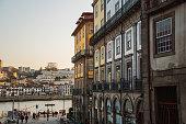 Buildings by the Douro river in Porto, Portugal