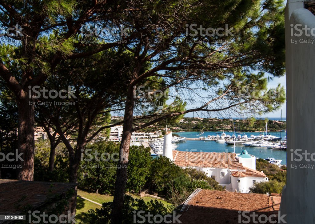 Porto Cervo Town. Porto Cervo Is Capital Of Costa Smeralda Sardinia Italy stock photo
