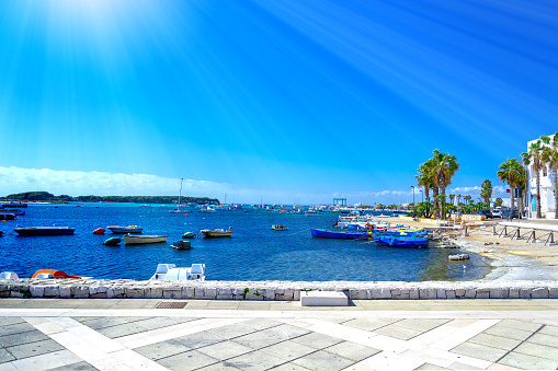 Porto Cesareo resort at sea near Lecce, Puglia, Italy