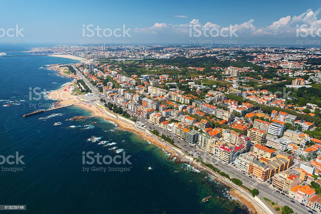 Porto city aerial view stock photo