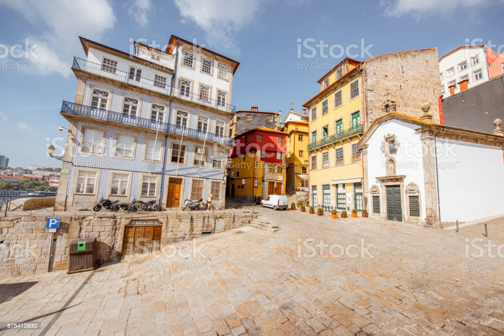 Cidade do porto em Portugal - foto de acervo