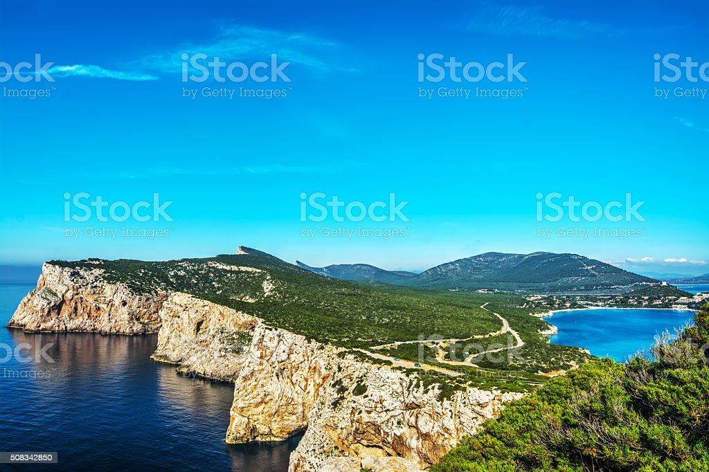 Porto Conte bay in Sardinia stock photo