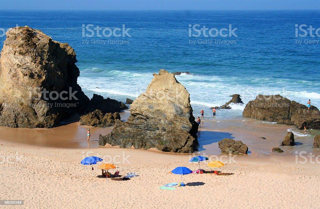 Spiaggia di Porto covo foto stock royalty-free