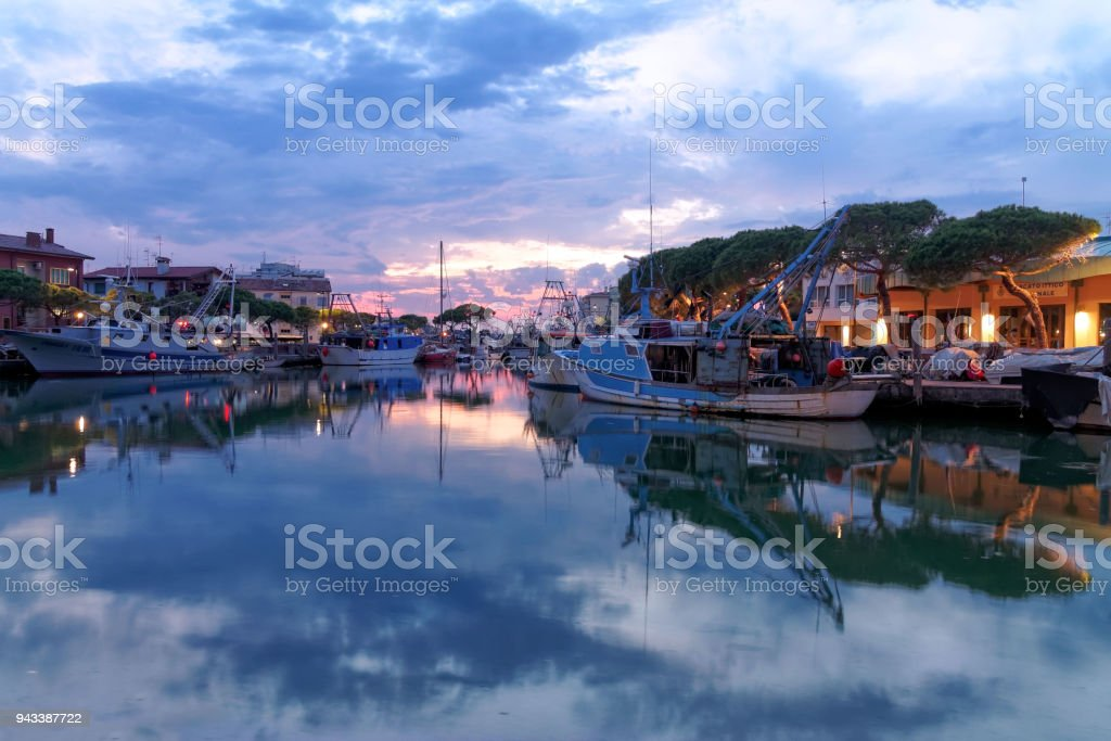 Porto di Caorle VE - foto stock
