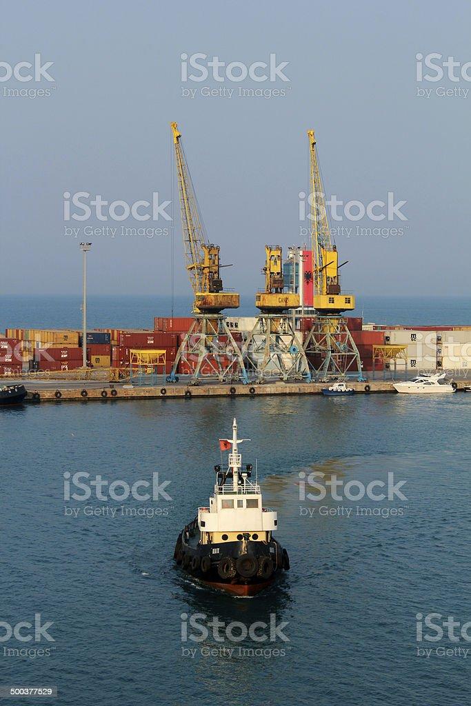 porto di durazzo stock photo