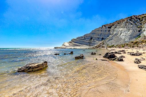 Porto Empedocle - Scala dei Turchi on the south coast of Sicily