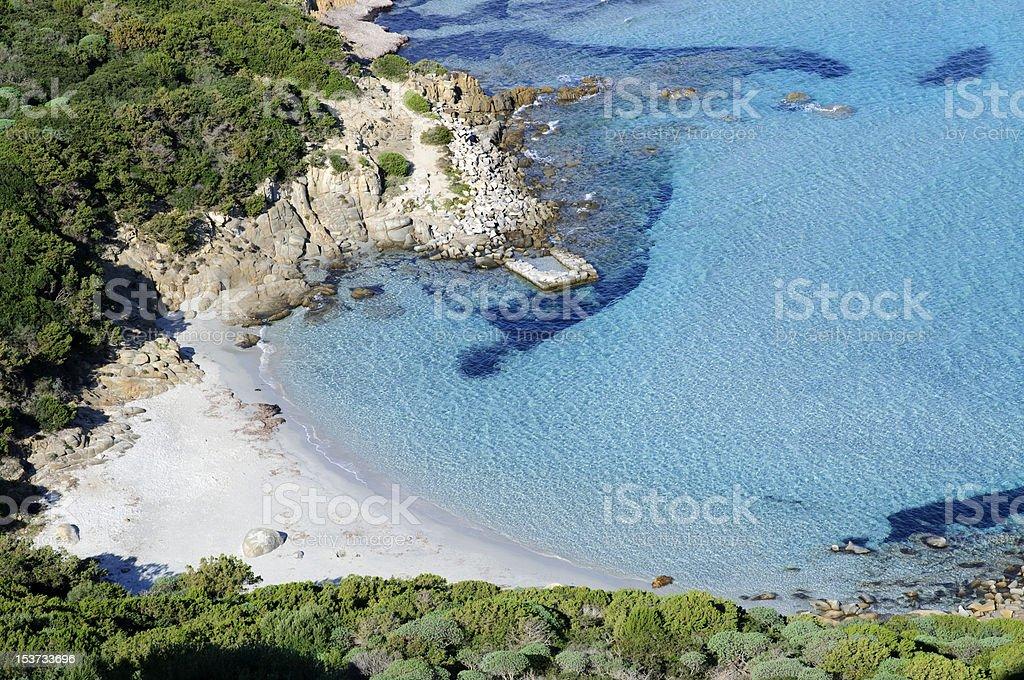 Porto Giunco beach, Villasimius, Cagliari, Sardinia stock photo