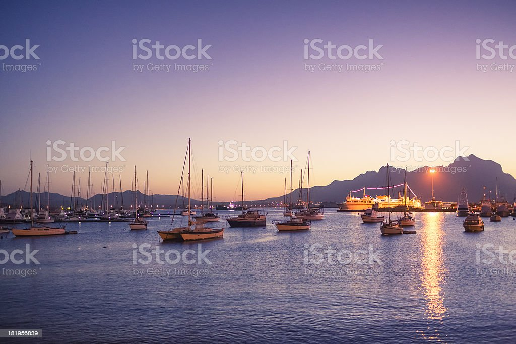 Porto Grande, Mindelo (São Vicente, Cape Verde) stock photo
