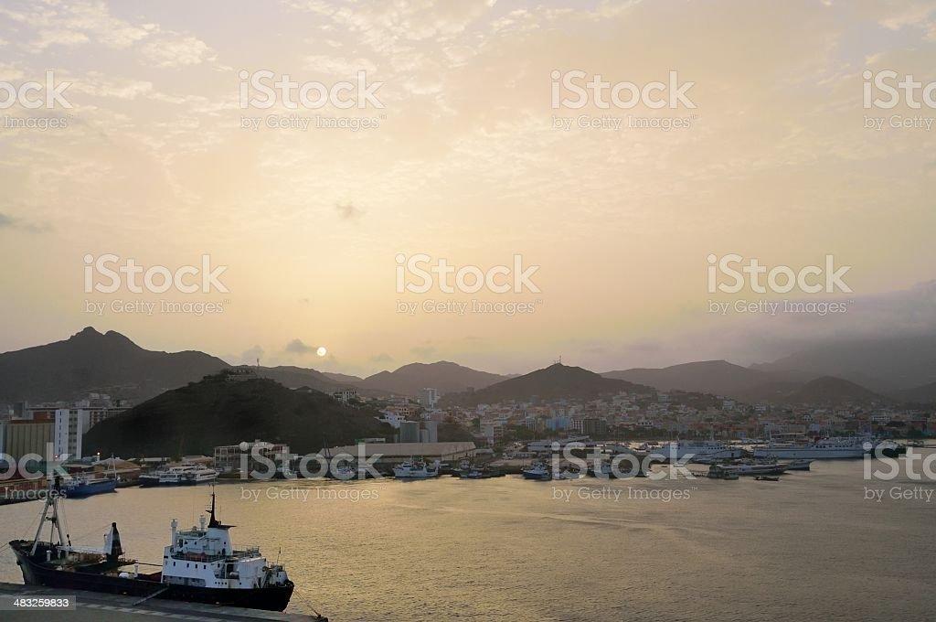 Porto Grande Sunrise stock photo