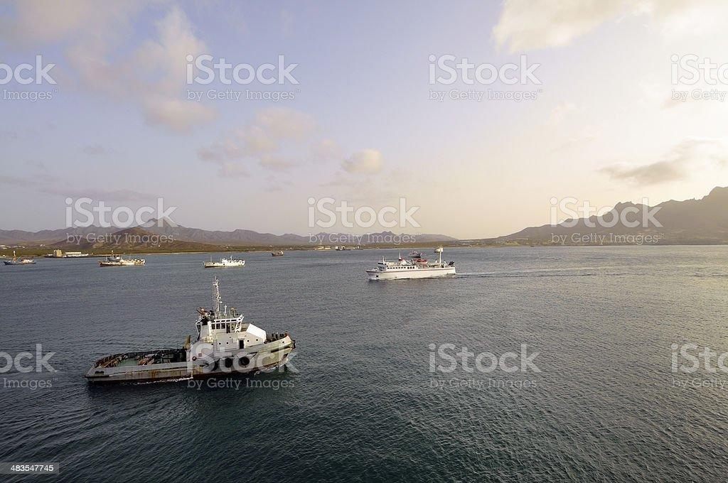 Porto Grande Traffic stock photo