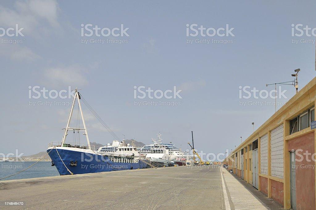 Porto Grande Wharf Walkway stock photo
