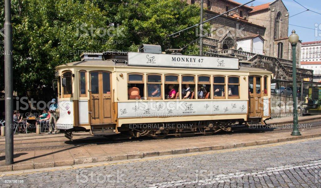 Porto heritage tram stock photo