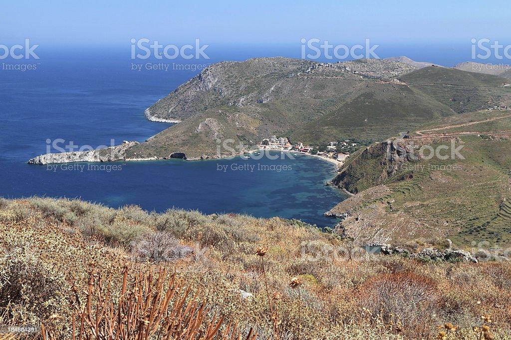 Porto Kagio, The Mani Region, Peloponnese, Greece stock photo
