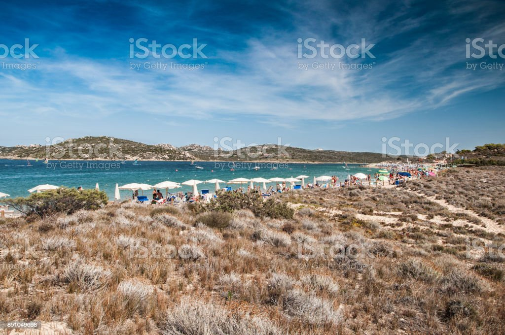 Porto Pollo beach on beautiful Sardinia stock photo