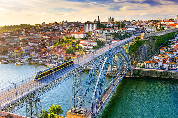 porto portugal bridge - portugal stock photos and pictures