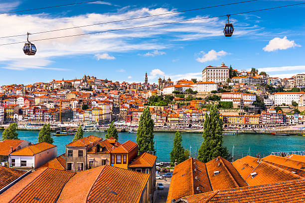 porto, portugal cityscape - portugal stock photos and pictures