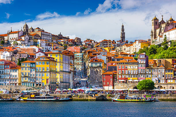 porto portugal old city - portugal stock photos and pictures