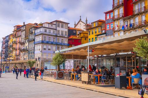 Porto, Portugal old town promenade