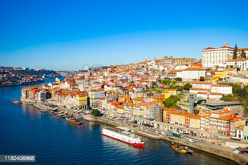 City of Porto, Portugal on a sunny day.