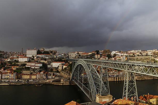 porto, portugal - rain clouds porto portugal imagens e fotografias de stock
