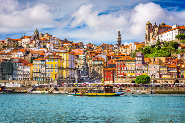 porto, portugal skyline - portugal stock photos and pictures