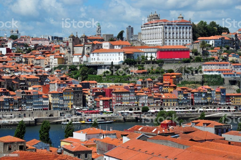 Porto, Portugal - the city and the Douro river stock photo
