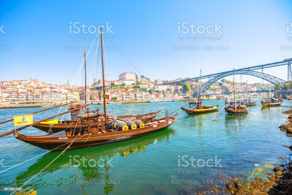 Porto Ribeira skyline stock photo