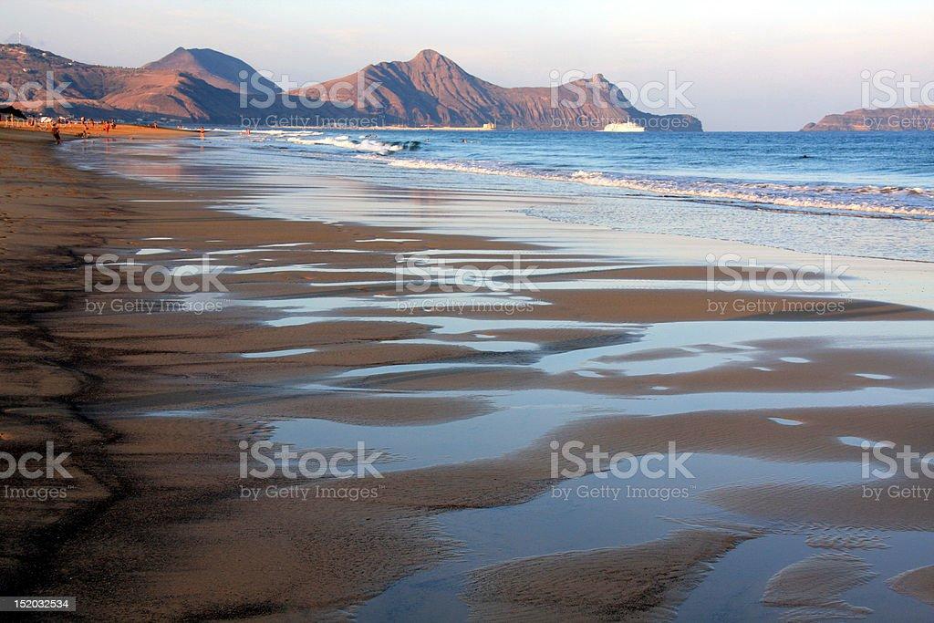 Porto Santo beach stock photo