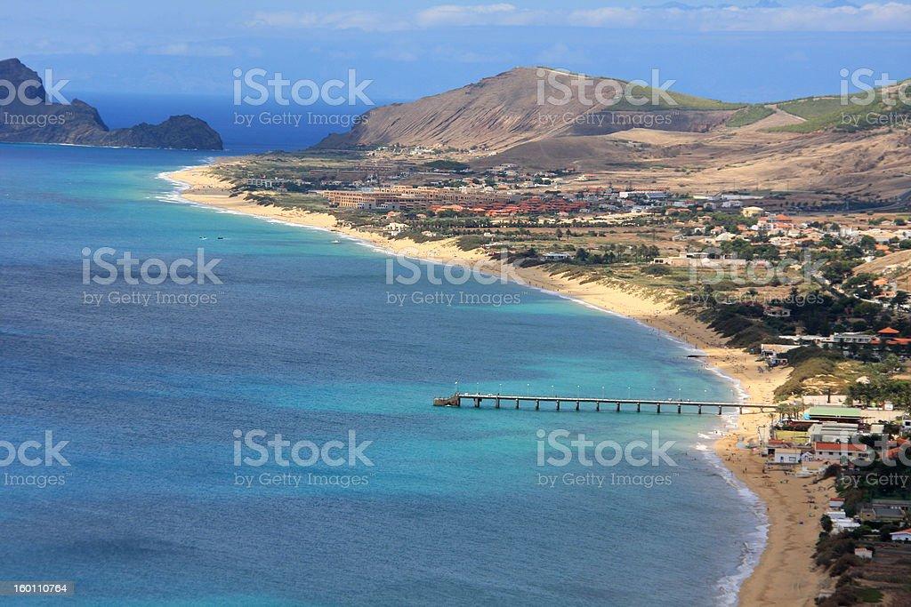 Porto Santo overview stock photo