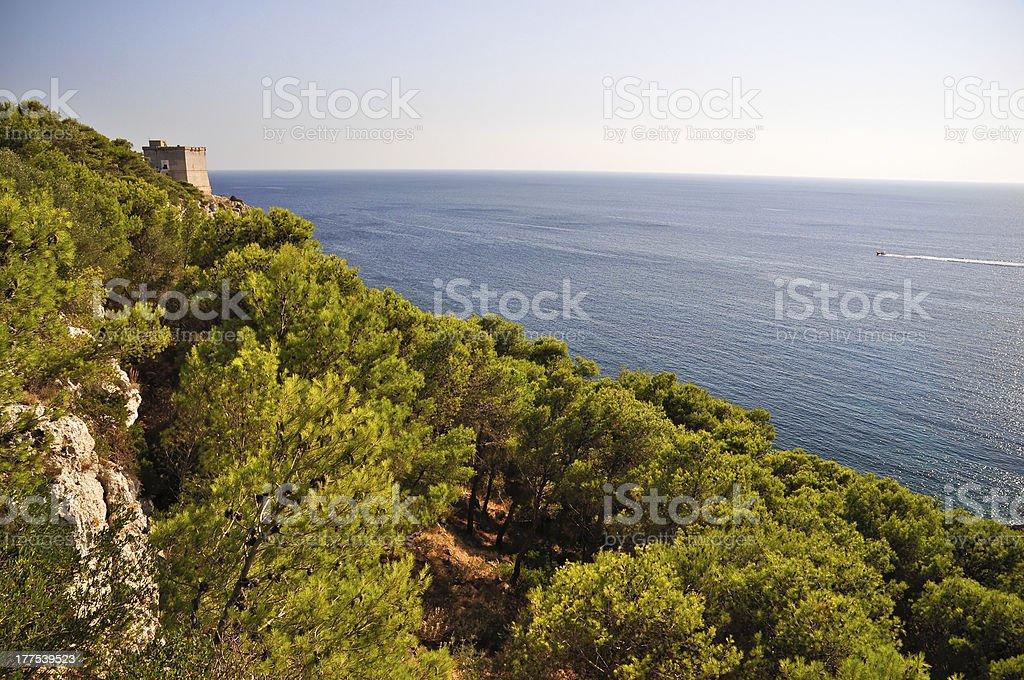 Porto Selvaggio royalty-free stock photo