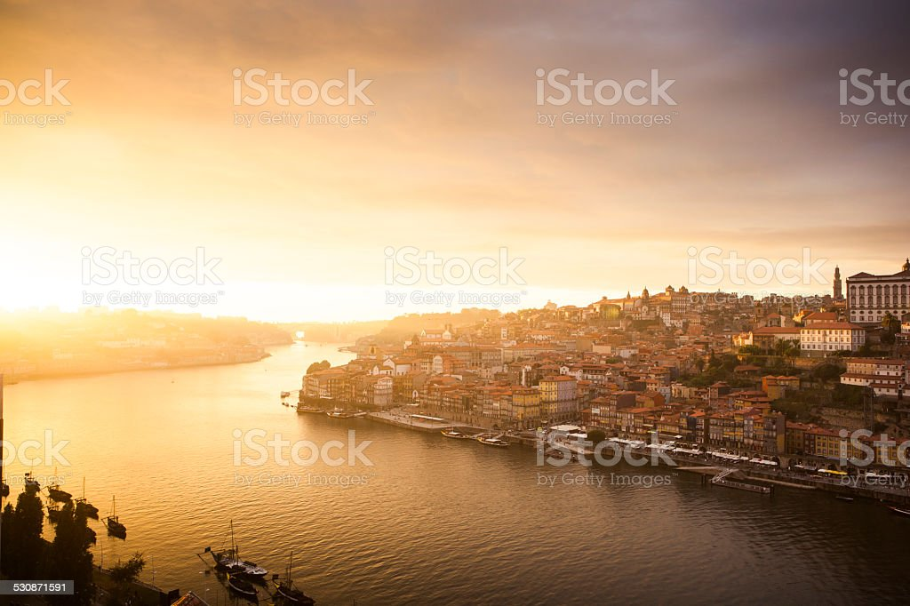 Porto Sunset, Portugal stock photo