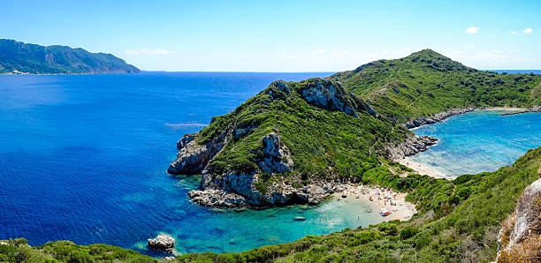 Porto Timoni, the best beach in Corfu island, Greece. Important stock photo