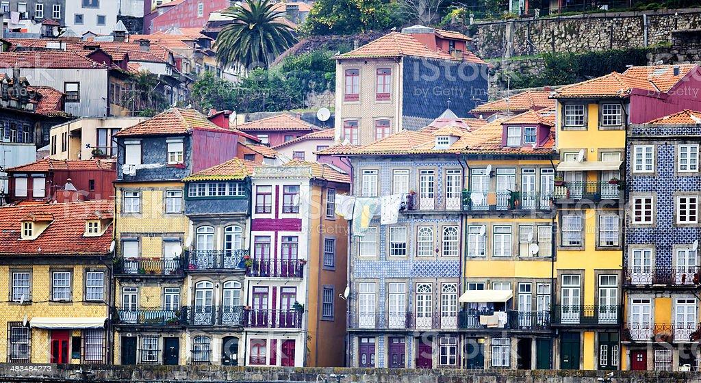 Porto traditional houses stock photo