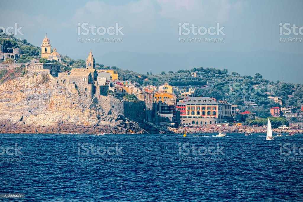 Porto Venere, on the Ligurian coast of Italy stock photo