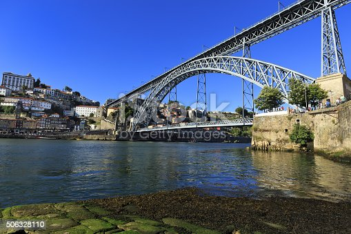 Porto View with D. Luis Bridge, in the north of Portugal