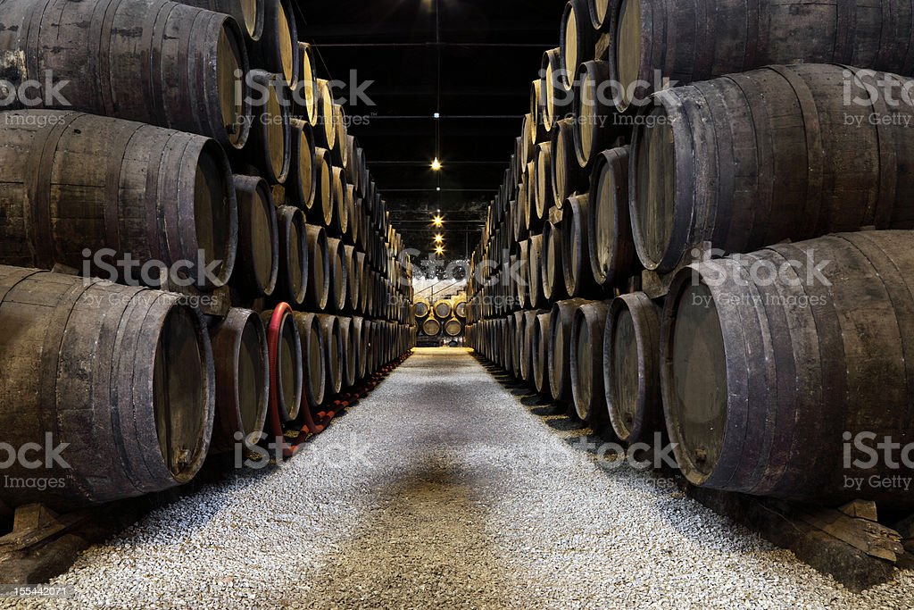 Porto wine cellar stock photo