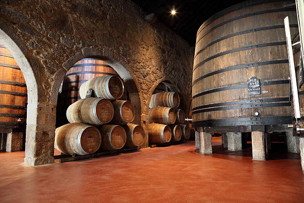 porto wine cellar - portugal stock photos and pictures