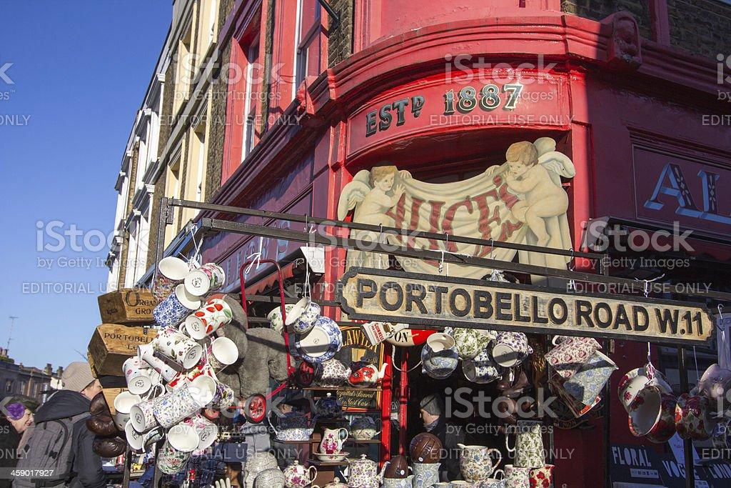 Portobello Road Market in Notting Hill, London stock photo