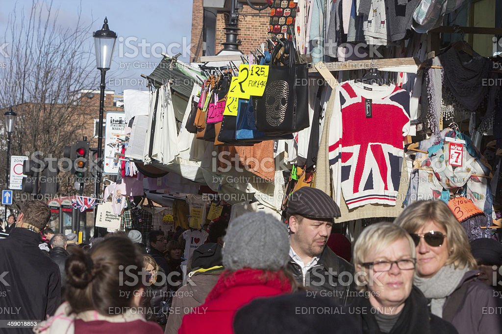 Portobello Road Market in Notting Hill, London royalty-free stock photo