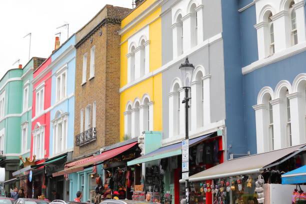 Portobello Road market London UK stock photo